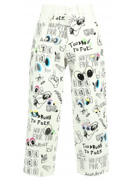 KIDILL WHITE DOLLS EYE PANTS