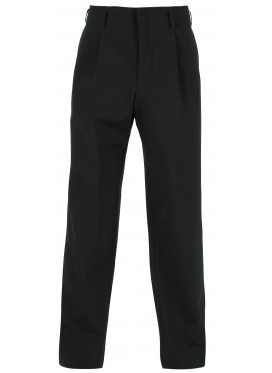 COMME DES GARCONS HOMME PLUS BLACK WOOL TROPICAL PANTS