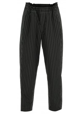 COMME DES GARCONS BLACK STRIPED TROUSERS