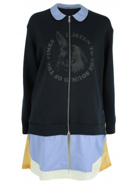 SUE UNDERCOVER BLUE ZIP SWEATSHIRT