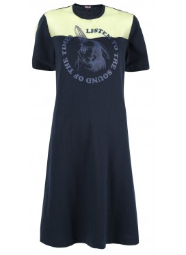 SUE UNDERCOVER BLUE PRINT DRESS