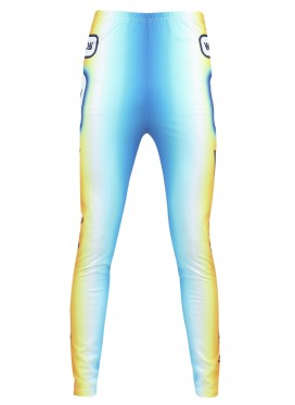 WALTER VAN BEIRENDONCK GHOST BIKE LEGGINS ORANGE-BLUE