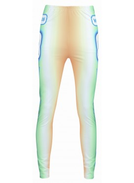 WALTER VAN BEIRENDONCK GHOST BIKE LEGGINS GREEN-RED