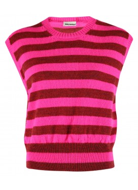 MOLLY GODDARD PINK VEST CLAUS LAMBSWOOL