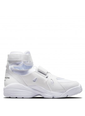 COMME DES GARÇONS HOMME PLUS X NIKE AIR CARNIVORE SNEAKERS IN WHITE