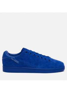RAF SIMONS-ORION SUEDE NAVY BLUE LOW-TOP SNEAKERS