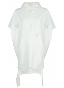 MELITTA BAUMEISTER WHITE HOODIE WITHOUT SLEEVES