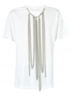 COMME DES GARCONS HOMME PLUS WHITE TOP WITH NECKLACE