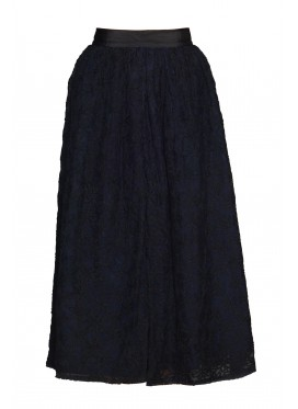 JUPE by JACKIE Floral Embroidery Skirt black and blue