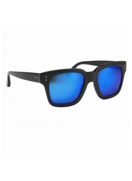 LINDA FARROW LUXE sunglasses  black  with blue lenses