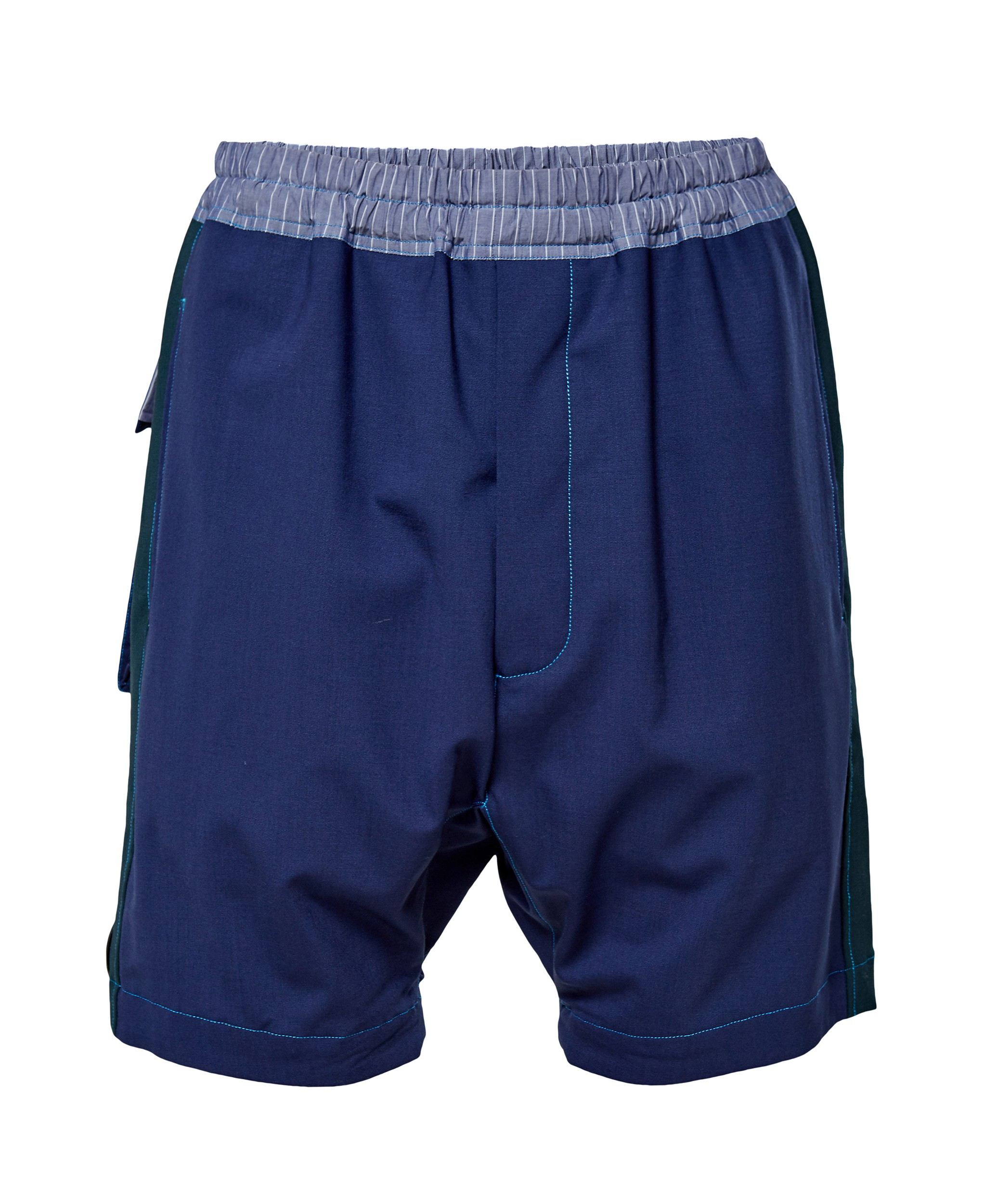 BERNHARD WILLHELM - BERNHARD WILLHELM Embroidered Shorts - navy